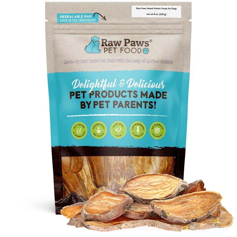 Raw Paws Gourmet Sweet Potato Chip Dog Treats, 8 Oz