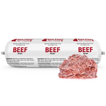 Raw Paws Complete Ground Beef for Dogs & Cats, 5 lbs