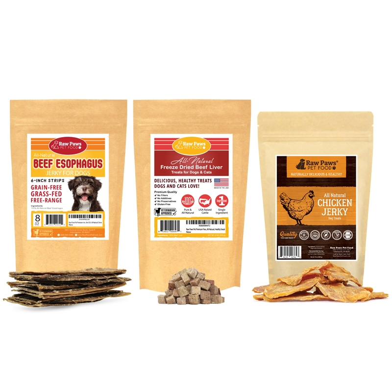 #pet,Raw Paws Essential Treat Pack for Dogs