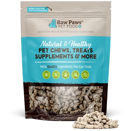 Raw Paws Freeze Dried Complete Green Beef Tripe Pet Food for Dogs & Cats, 16 oz