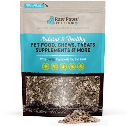Grain-Free Organic Chicken Kibble Infused with Raw Freeze Dried Complete Chicken, 8 lbs