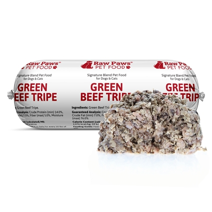 Raw Paws Ground Green Beef Tripe For Dogs Amp Cats Raw